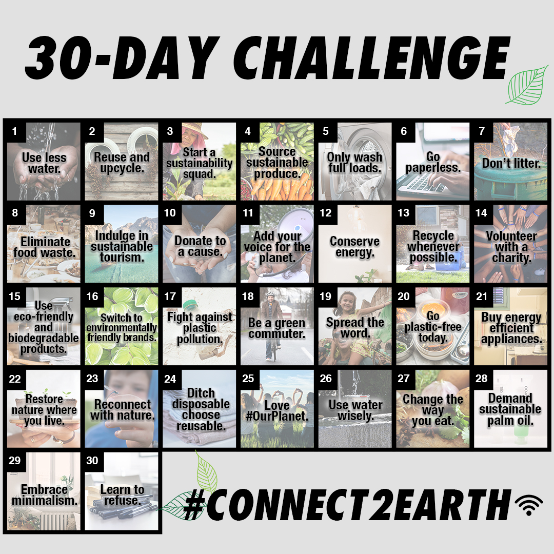 30-Day Challenge Calendar (landscape)
